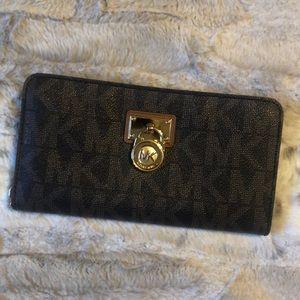 MK large monogram wallet
